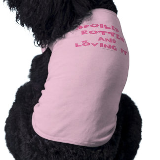 Spoiled Rotten  Dog Tank Top (Pink Text)
