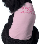 Spoiled Rotten  Dog Tank Top (Pink Text) Doggie Shirt
