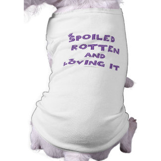 Spoiled Rotten  Dog Tank Top (Purple Text) Doggie Tee