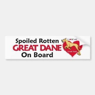 Spoiled Rotten Fawn Dane Car Bumper Sticker