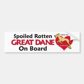 Spoiled Rotten Fawn Dane UC Bumper Stickers