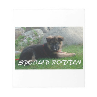 spoiled rotten german shepherd notepad