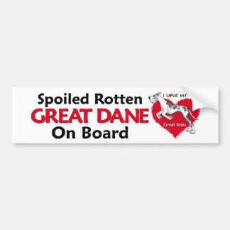 Spoiled Rotten Harlequin Dane Bumper Sticker