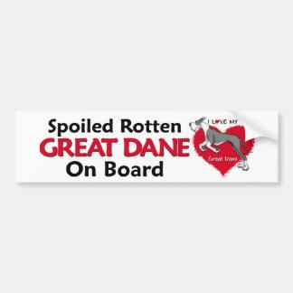 Spoiled Rotten Mantle Dane Bumper Stickers