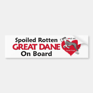 Spoiled Rotten Mantle Dane UC Bumper Sticker