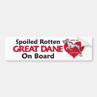 Spoiled Rotten Merle Dane UC Bumper Sticker