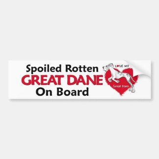 Spoiled Rotten Merlequin Dane UC Bumper Sticker