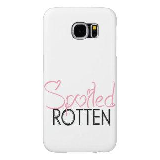 Spoiled Rotten Pink White Black  Sassy Attitude Samsung Galaxy S6 Case