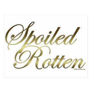 Spoiled Rotten Postcard