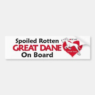 Spoiled Rotten White Dane UC Bumper Stickers