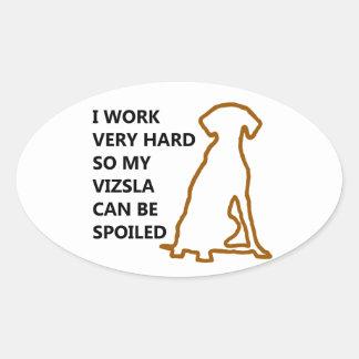 Spoiled Vizsla Oval Sticker