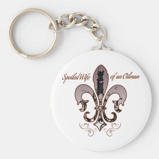 spoiled wife purple keychains