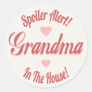 Spoiler Alert Grandma Classic Round Sticker