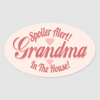 Spoiler Alert Grandma Oval Sticker