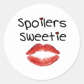 Spoilers Sweetie Classic Round Sticker
