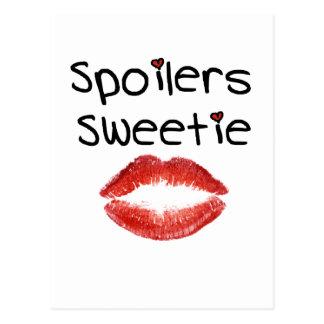 Spoilers Sweetie Postcard