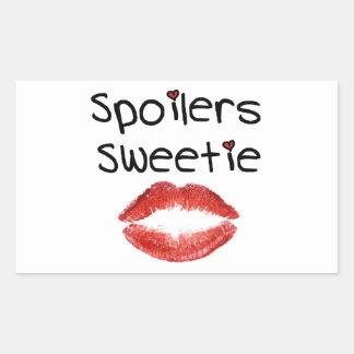 Spoilers Sweetie Rectangular Sticker