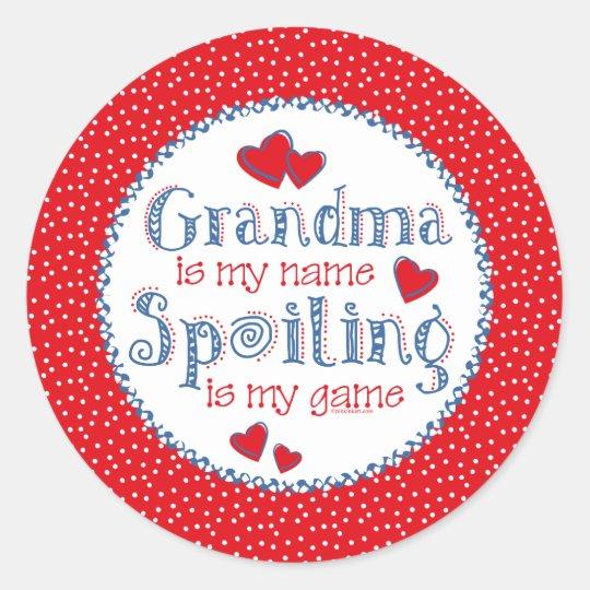 Spoiling Grandma (pd) Sticker