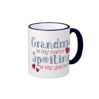Spoiling Grandma Ringer Coffee Mug