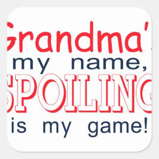 Spoiling Grandma Square Sticker