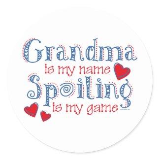 Spoiling Grandma sticker