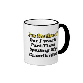 Spoiling My Grandkids Ringer Coffee Mug