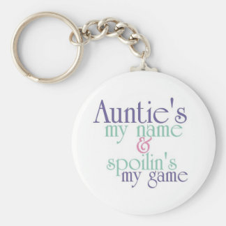 Spoilins My Game-Auntie 3 Basic Round Button Keychain