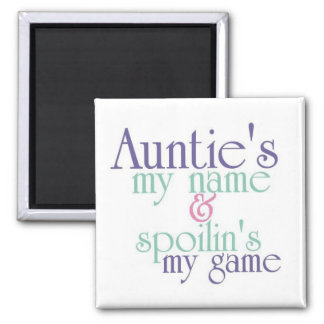 Spoilins My Game-Auntie 3 2 Inch Square Magnet