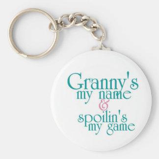 Spoilins My Game-Granny's Keychain