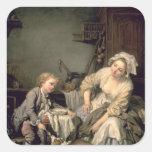 Spoilt Child, 1765 Square Sticker