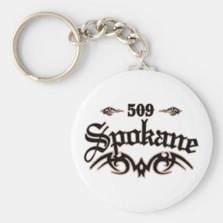 Spokane 509 keychain