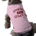 Spokane - búhos - escuela secundaria - Spokane Mis Camiseta De Perrito