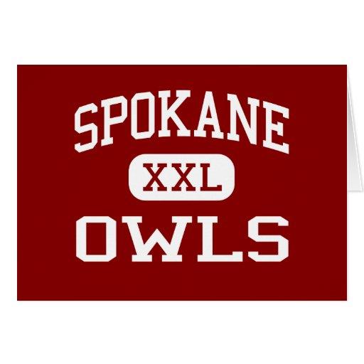 Spokane - búhos - escuela secundaria - Spokane Mis Tarjetas