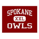 Spokane - búhos - escuela secundaria - Spokane Mis Postales