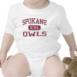 Spokane - búhos - escuela secundaria - Spokane Traje De Bebé