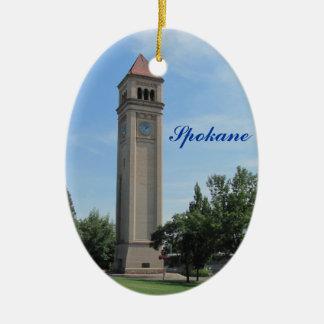 Spokane Clock Tower Riverfront Park Ceramic Ornament