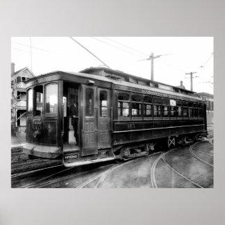 SPOKANE ELECTRIC STREET CAR  1915 POSTER