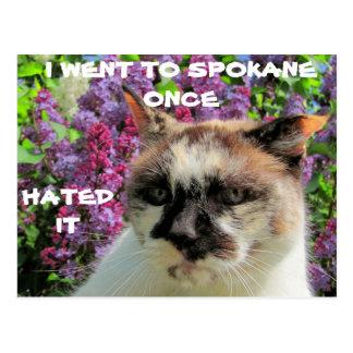 Spokane? Hated It Postcard