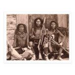Spokane Indians, 1861 (b/w photo) Postcard