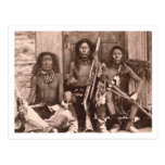 Spokane Indians, 1861 (b/w photo) Postcards