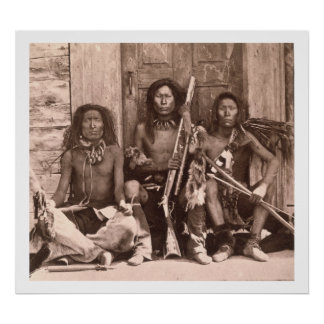 Spokane Indians, 1861 (b/w photo) Poster