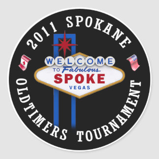 Spokane Oldtimers Puck Round Stickers
