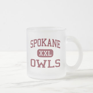 Spokane - Owls - Middle School - Spokane Missouri Frosted Glass Coffee Mug