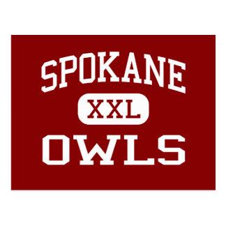 Spokane - Owls - Middle School - Spokane Missouri Postcard