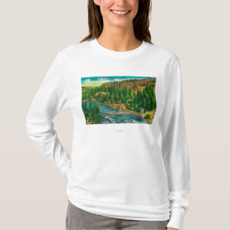 Spokane River and Suspension Foot Bridge T-Shirt