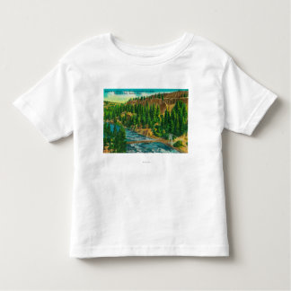 Spokane River and Suspension Foot Bridge Toddler T-shirt