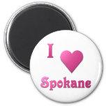 Spokane -- Rosas fuertes Imán Para Frigorífico