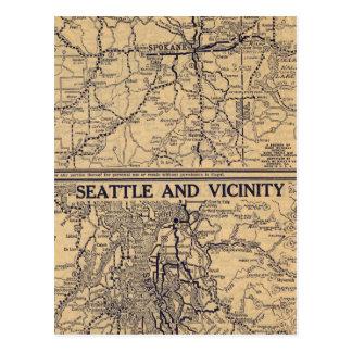 Spokane, Seattle Postales