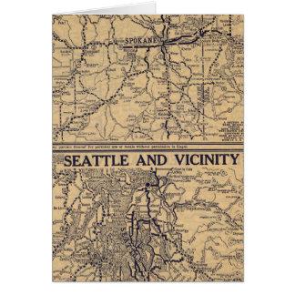 Spokane, Seattle Tarjeta De Felicitación