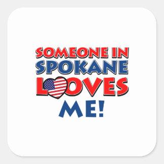 SPOKANE USA designs Square Sticker